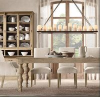 Rustic Dining Room Rectangular Chandeliers