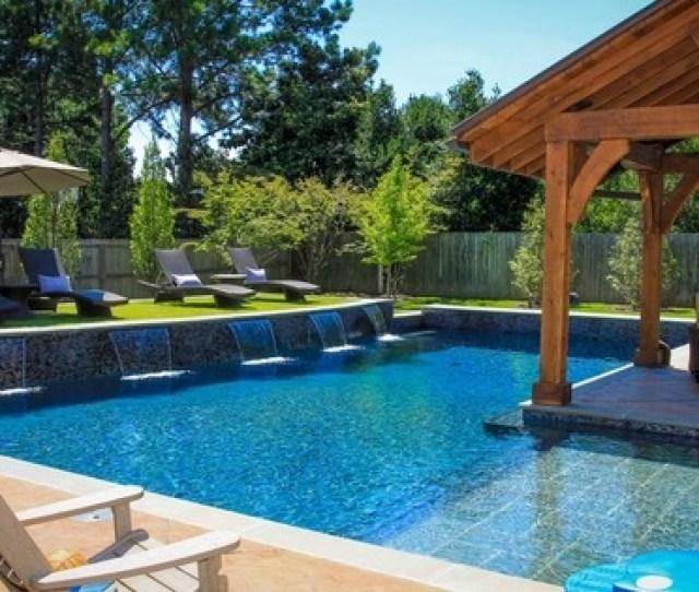 Backyard Pool Landscaping Deck Ideas Pergola
