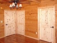 Knotty pine doors  beautiful solid pine wood interior doors