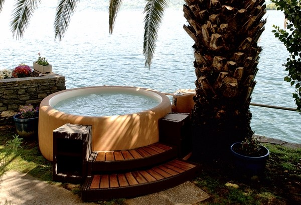 Softub  a convenient portable spa for your outdoor space