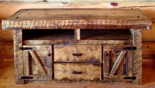 Rustic Barn Wood Ideas Novocom Top, Barn Wood Furniture Ideas