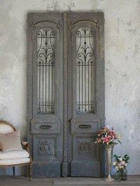 Antique doors in the interior