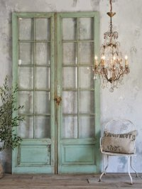Antique doors in the interior