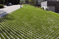 Grass pavers for the driveway, courtyard or the patio