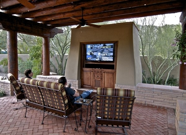 outdoor tv enclosure ideas take the