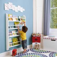 Forward facing bookshelf ideas  cool kids room furniture ...