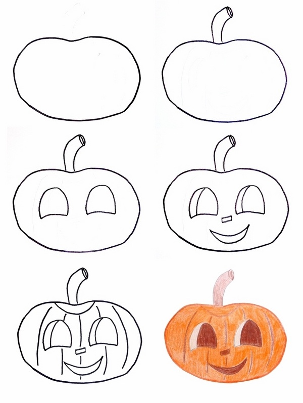 Draw, cutout and decorate your house this halloween. Halloween Drawing Ideas Cool Halloween Crafts And Activities