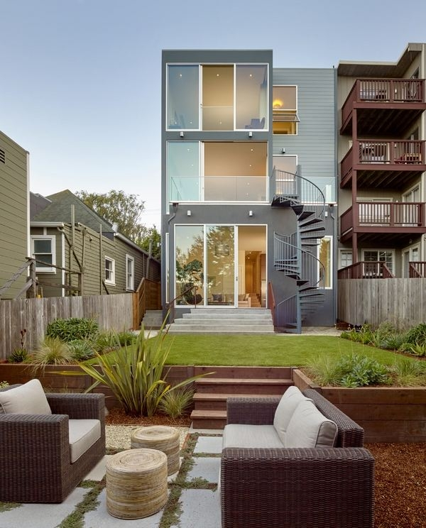 Outdoor Spiral Staircase Designs To Complement The House Exterior | House Stair Design Outside | Outside Staircase Grill | Backyard Stair | Unique | Low Cost | Recent