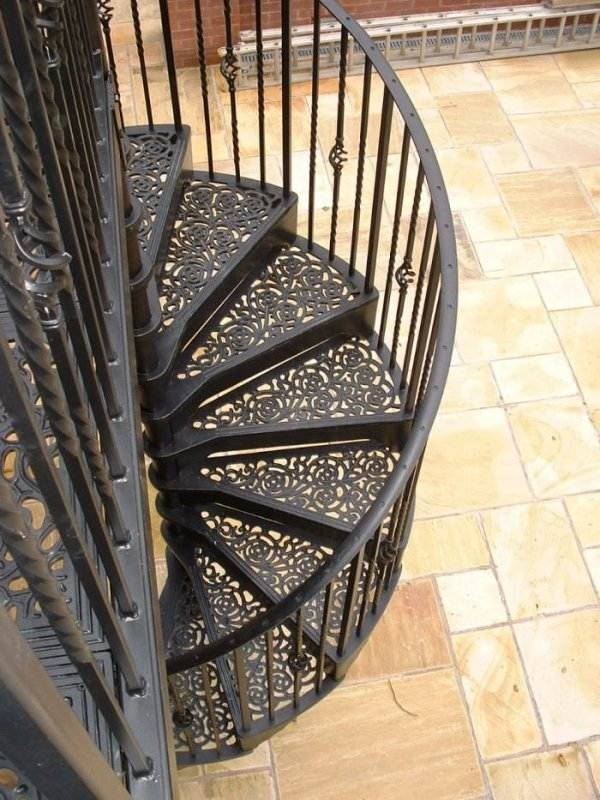 Outdoor Spiral Staircase Designs To Complement The House Exterior   Outdoor Steel Staircase Design   Wrought Iron   Light   Stainless Steel   Industrial   Wood