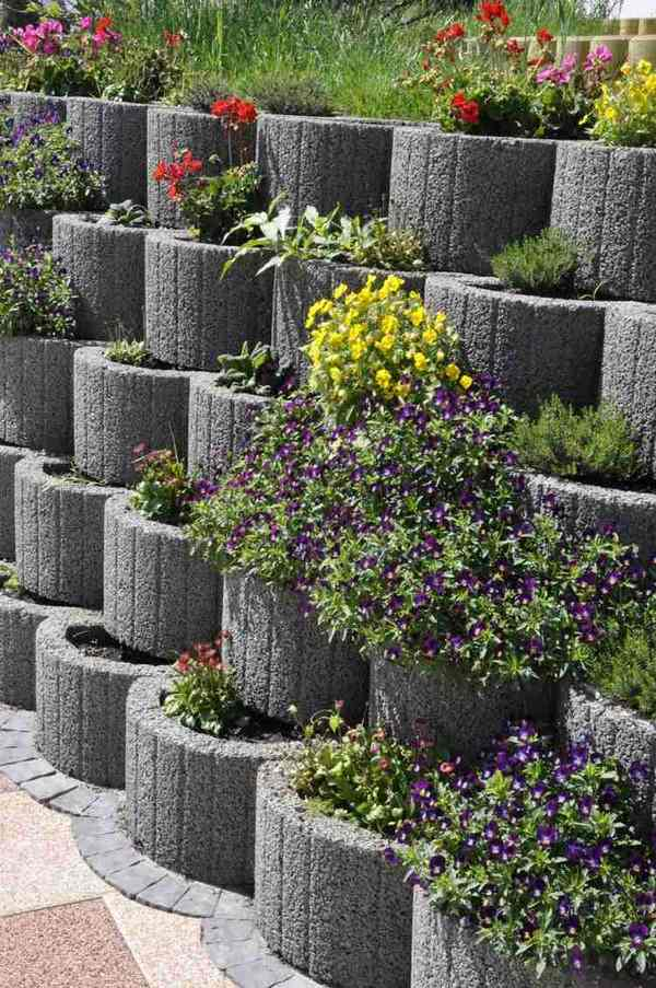 retaining wall ideas concrete