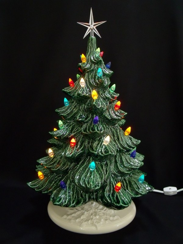 Ceramic Christmas Tree Light Bulbs