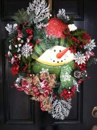 Snowman wreath ideas  how to make a gorgeous Christmas wreath