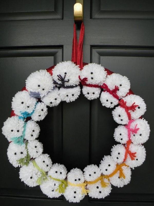 snowman wreath ideas how