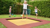 In ground trampoline for the backyard  super fun outdoor ...