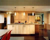 Maple cabinets  a good choice for elegant and modern