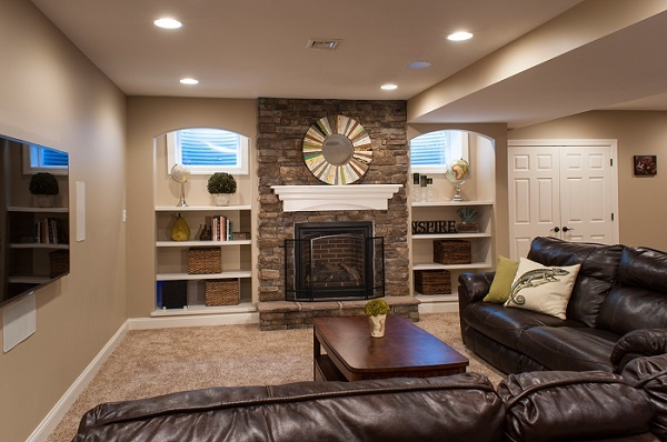 basement living rooms pictures of modern room furniture ceiling ideas how to convert your into a area remodel windows