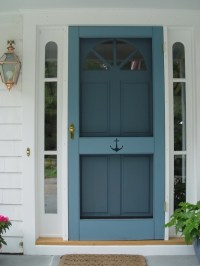Wood screen doors  an elegant entryway and a great first ...