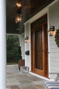 Wood screen doors  an elegant entryway and a great first
