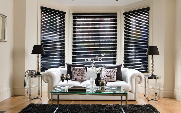 window treatments ideas for living room bench designs bay blinds how to dress up your beautifully attractive