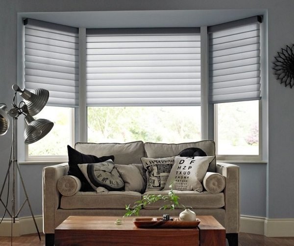 modern window treatments for living room grey wood floors in bay blinds ideas how to dress up your beautifully treatment decor