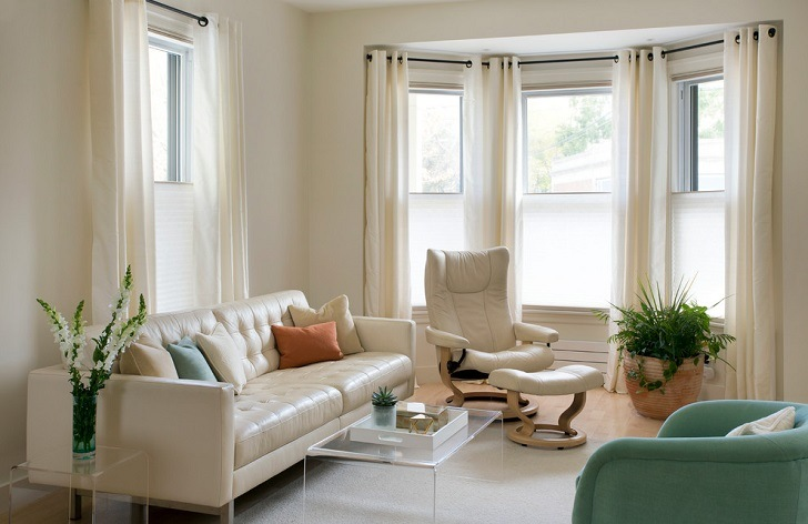bay window curtain ideas living room home depot rugs pole small details with great visual appeal