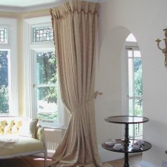 Bay Window Curtain Ideas For Living Room With Dark Grey Couch Give Your A Glamorous Look