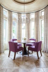 Bow window treatment  an elegant and graceful feature of ...