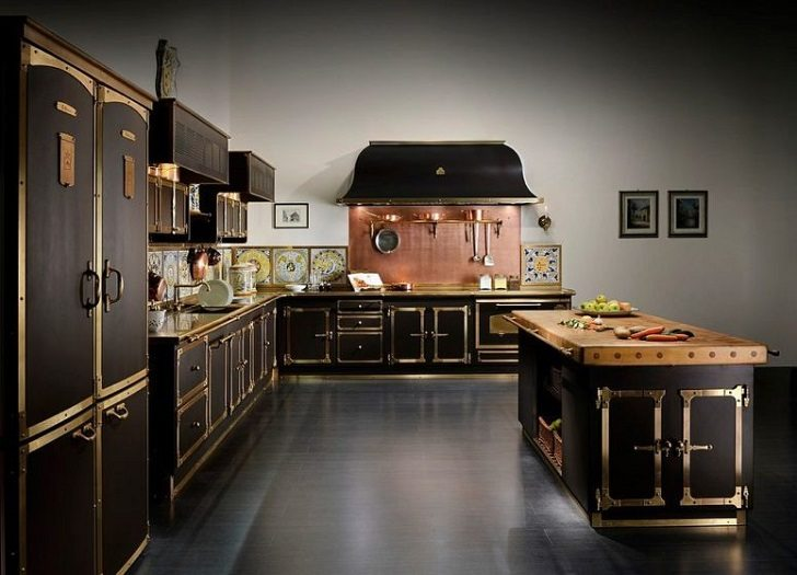Black And Copper Kitchen Ideas Modern Extravagant And Bold Designs