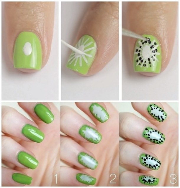 Cute And Colorful Summer Nails Design Ideas With Fruits Nail Art