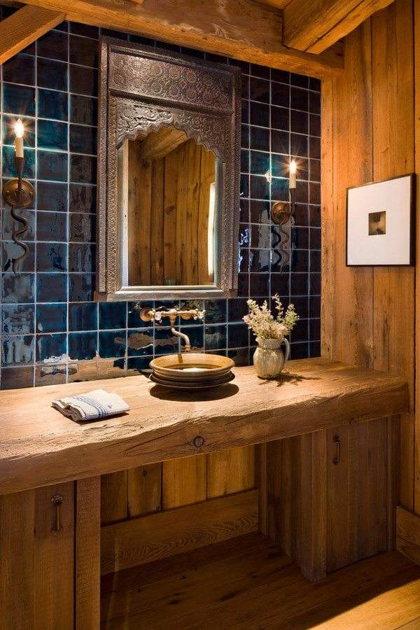 Rustic bathroom vanity cabinets and accessories ideas