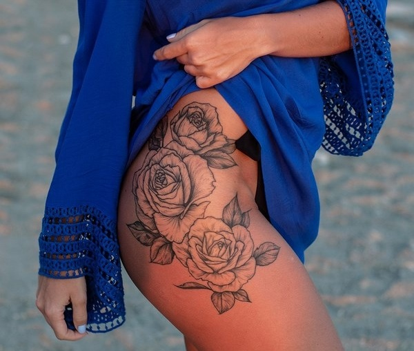 20 Small Rose Thigh Tattoos Ideas And Designs