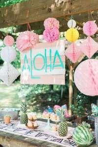 Bridal shower ideas for the summer  picnic, Hawaiian