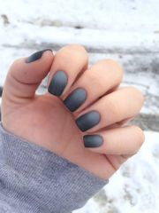 matte nails stylish elegant