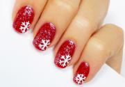 snowflake nail design create