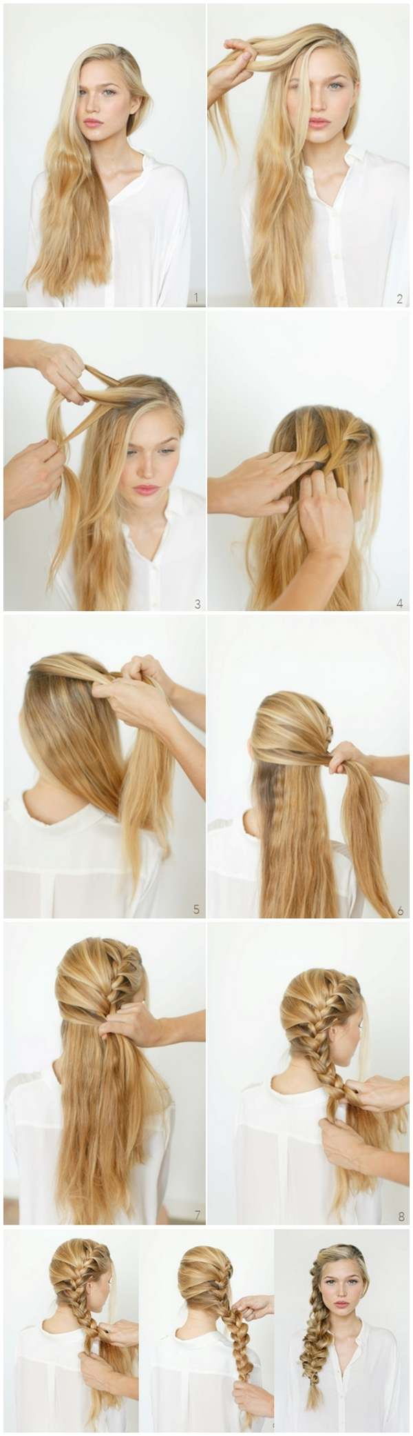 French braid hairstyles  beautiful hairdos for long short