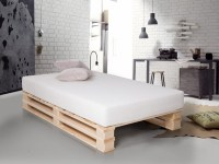 DIY pallet bed frame  fantastic bedroom furniture design