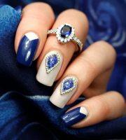 blue nail art ideas universe