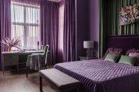 Purple bedroom design ideas  stylish interiors and color ...