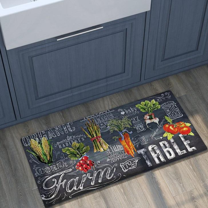 Super cool kitchen mats and rugs to add a touch of color