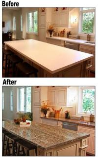 Countertop paint ideas  give a new look to the dated work ...