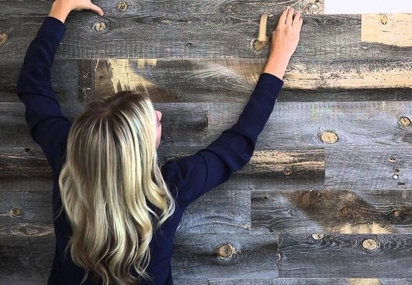 Peel And Stick Wood Wall Tiles Ideas To Create A