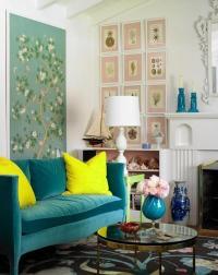 How to use triadic color scheme in interior design?