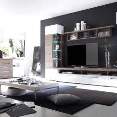 Modern Black And White Living Room Ideas Wall Unit Interiors Stylish Design