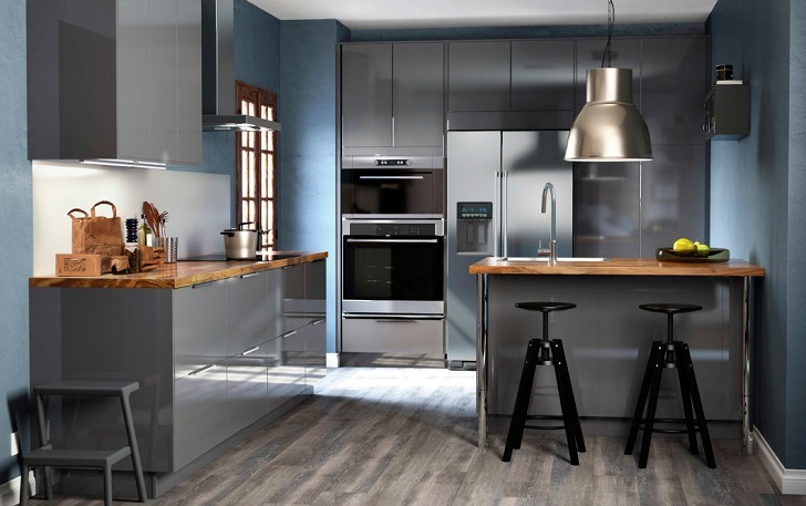 Gray Kitchen Interior Design Ideas Color Shades And