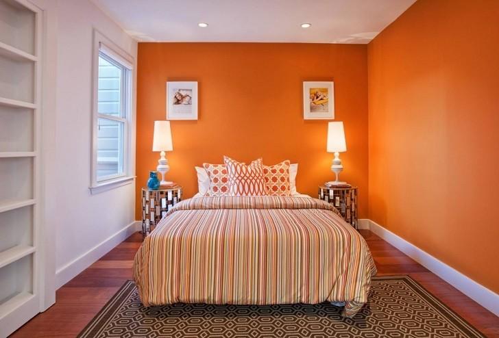 orange bedroom interior design