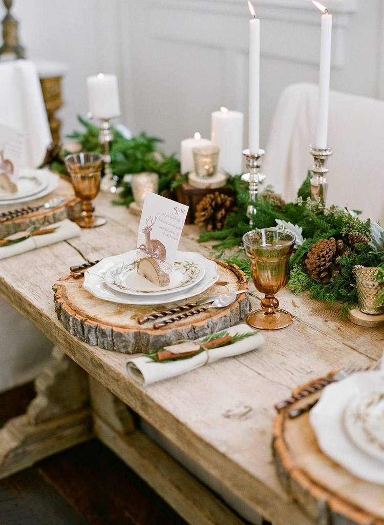 christmas table setting simple rules