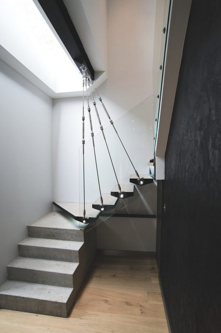 Modern Concrete Staircase A Perfect Solution For Contemporary | Stairs Style For Home | Creative | Inside | Spiral | Country Cottage | Living Room