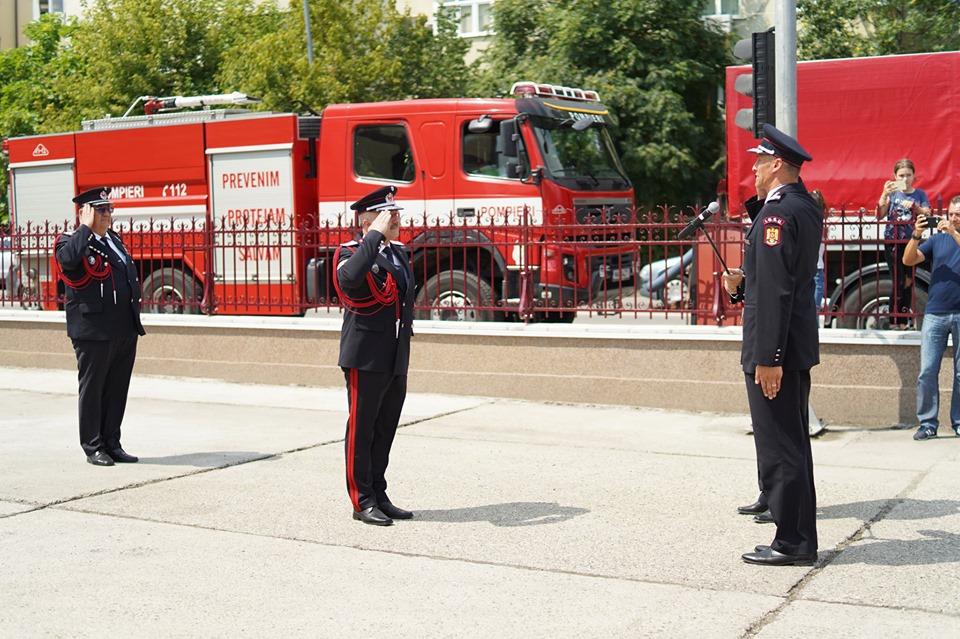 Ceremonial militar la ISUJ Bacău (FOTO)