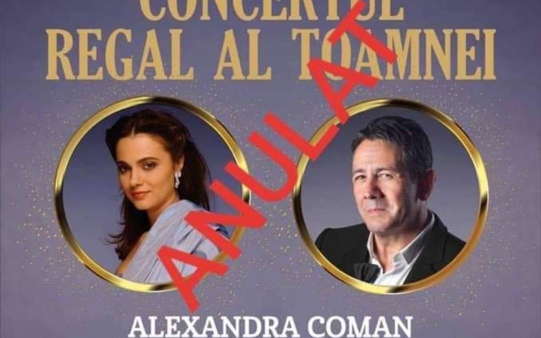 Concertul Regal al Toamnei – anulat!