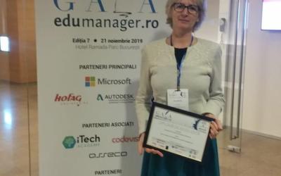"""Universitatea """"Vasile Alecsandri"""" din Bacău premiată și în anul 2019 la Gala Edumanager"""